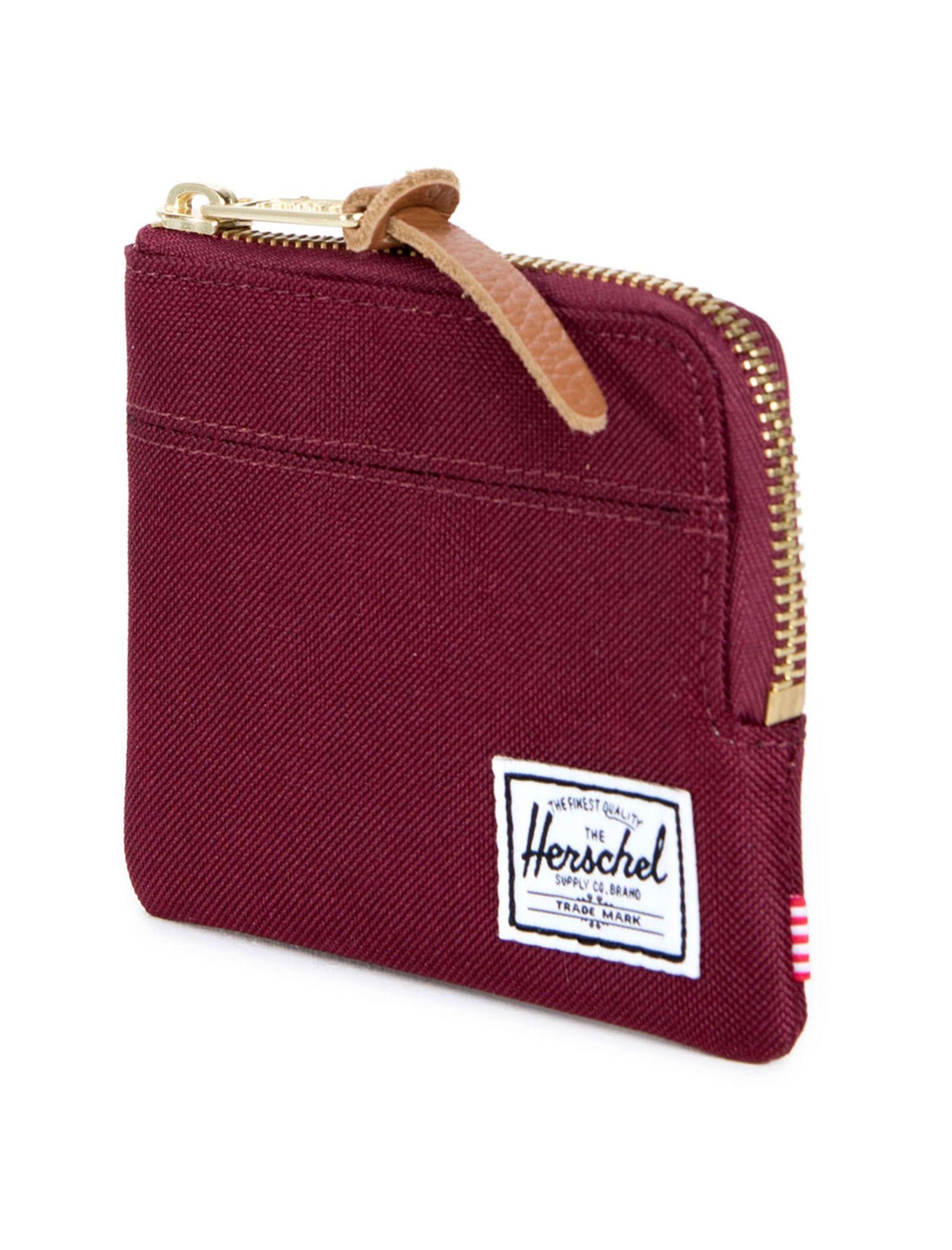 کیف پول زیپ دار زنانه - هرشل - زرشکي - 2
