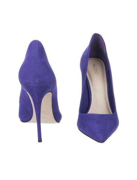 کفش پاشنه بلند چرم زنانه - آلدو - بنفش - 5