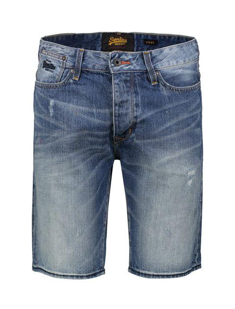 شلوارک جین مردانه Biker - آبي - 1
