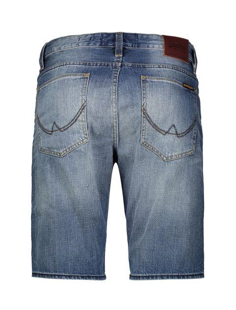 شلوارک جین مردانه Biker - آبي - 2