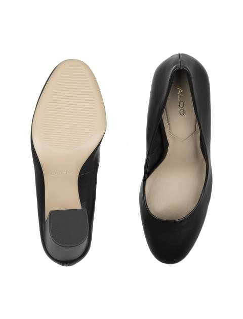 کفش پاشنه بلند چرم زنانه - آلدو - مشکي - 2
