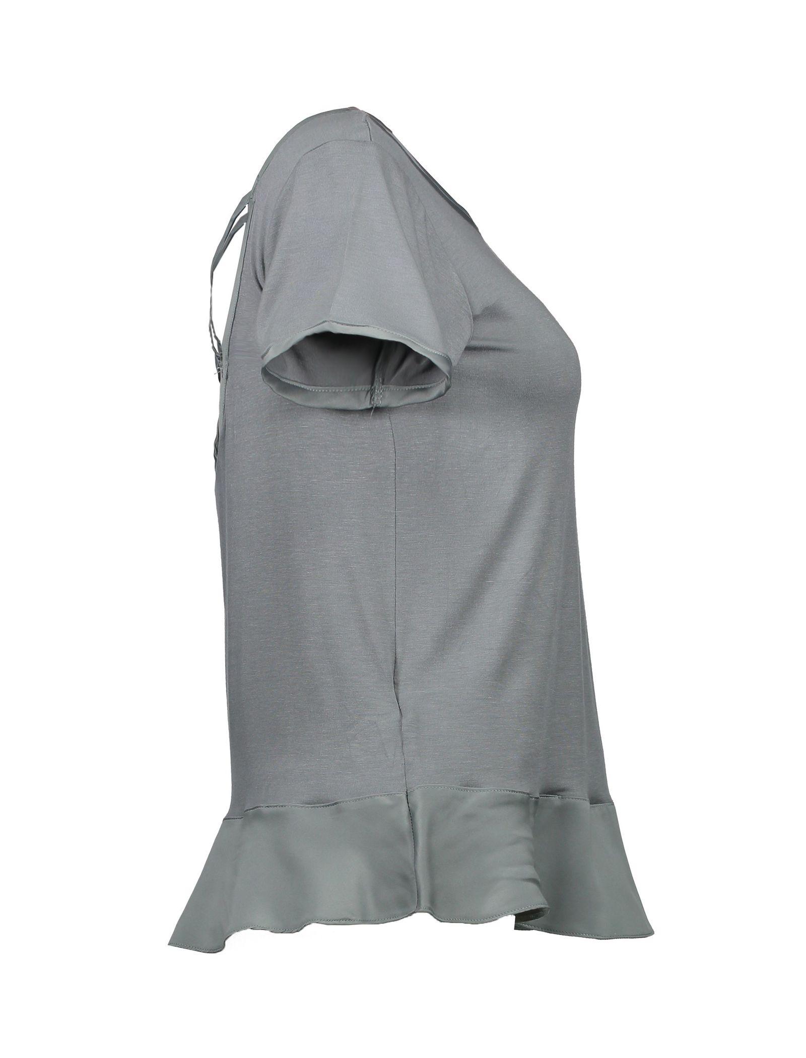 تی شرت و شلوار راحتی ویسکوز زنانه - کالکشن - طوسي   - 8