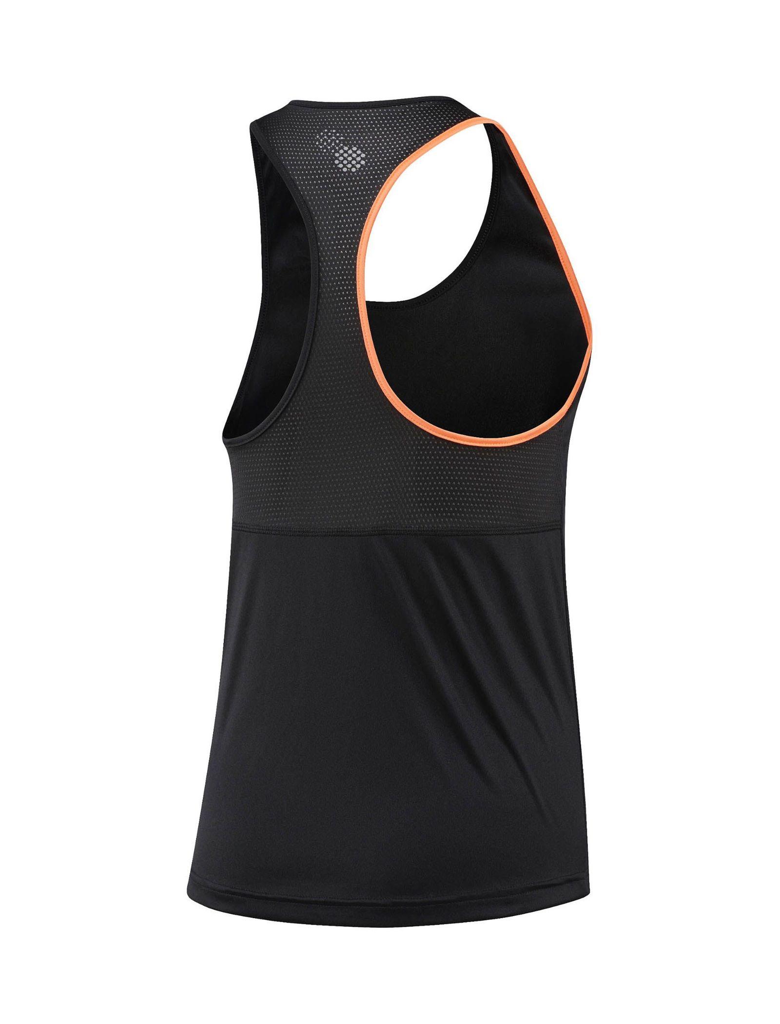 تاپ ورزشی بندی زنانه - ریباک - مشکي - 2
