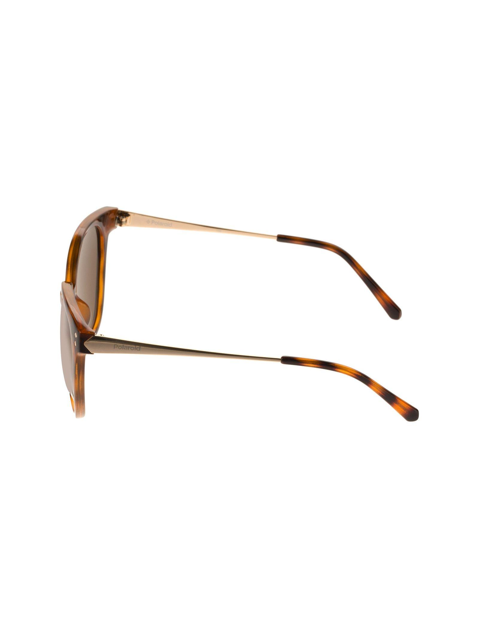 عینک آفتابی گربه ای زنانه - پولاروید - قهوه اي لاک پشتي - 3