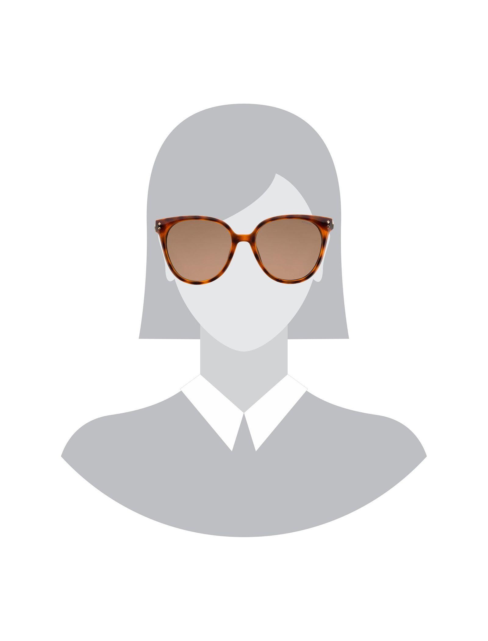 عینک آفتابی گربه ای زنانه - پولاروید - قهوه اي لاک پشتي - 5