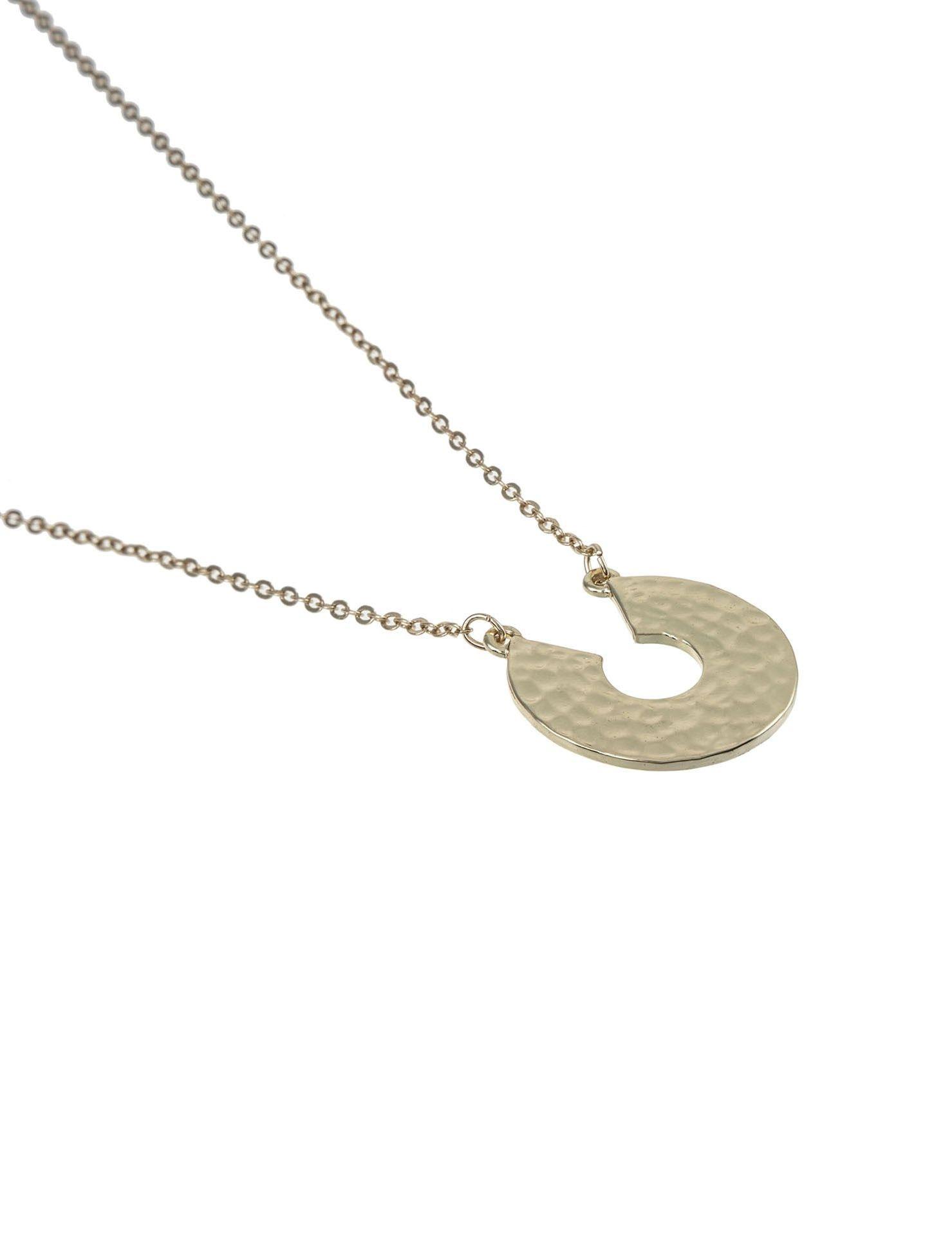 گردنبند آویز زنانه - پی سز - طلايي - 2