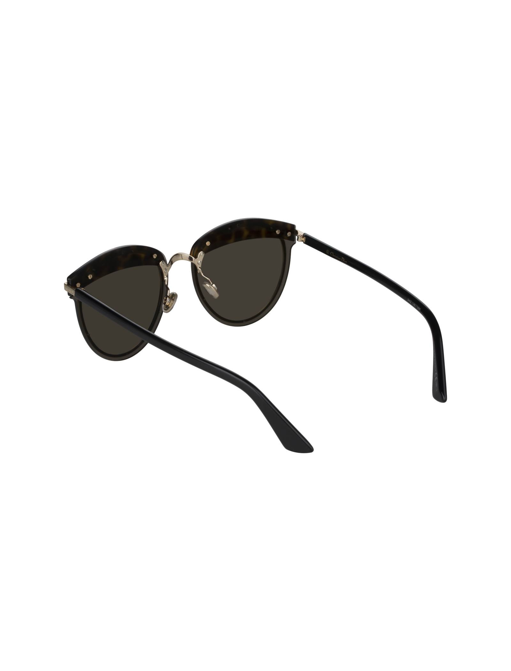 عینک آفتابی پنتوس زنانه - دیور - مشکي لاک پشتي - 4