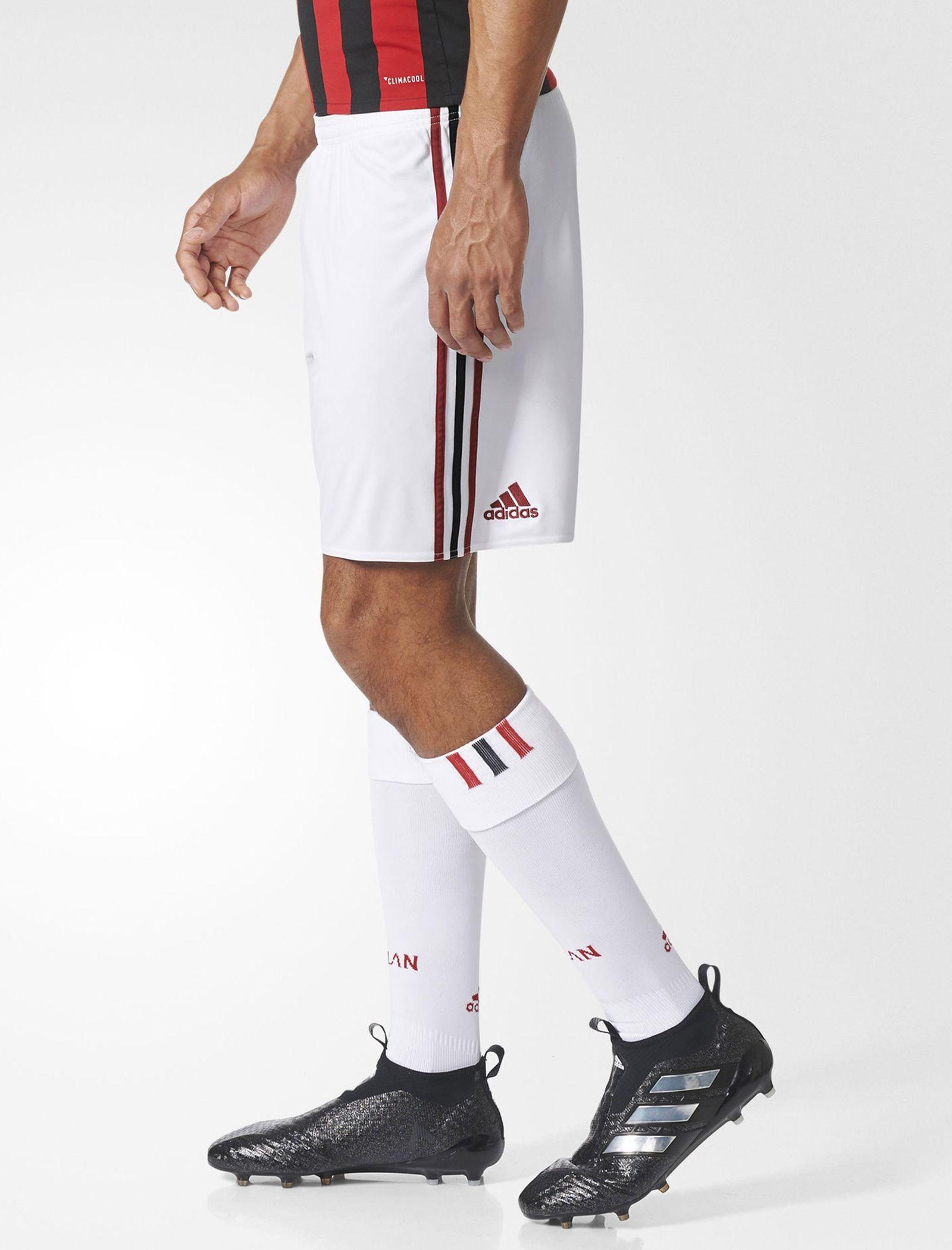 شلوارک فوتبال تیم  AC Milan Replica - آدیداس - سفيد   - 4