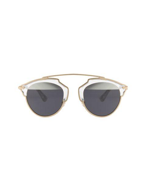 عینک آفتابی پنتوس زنانه - دیور - طلايي  - 1