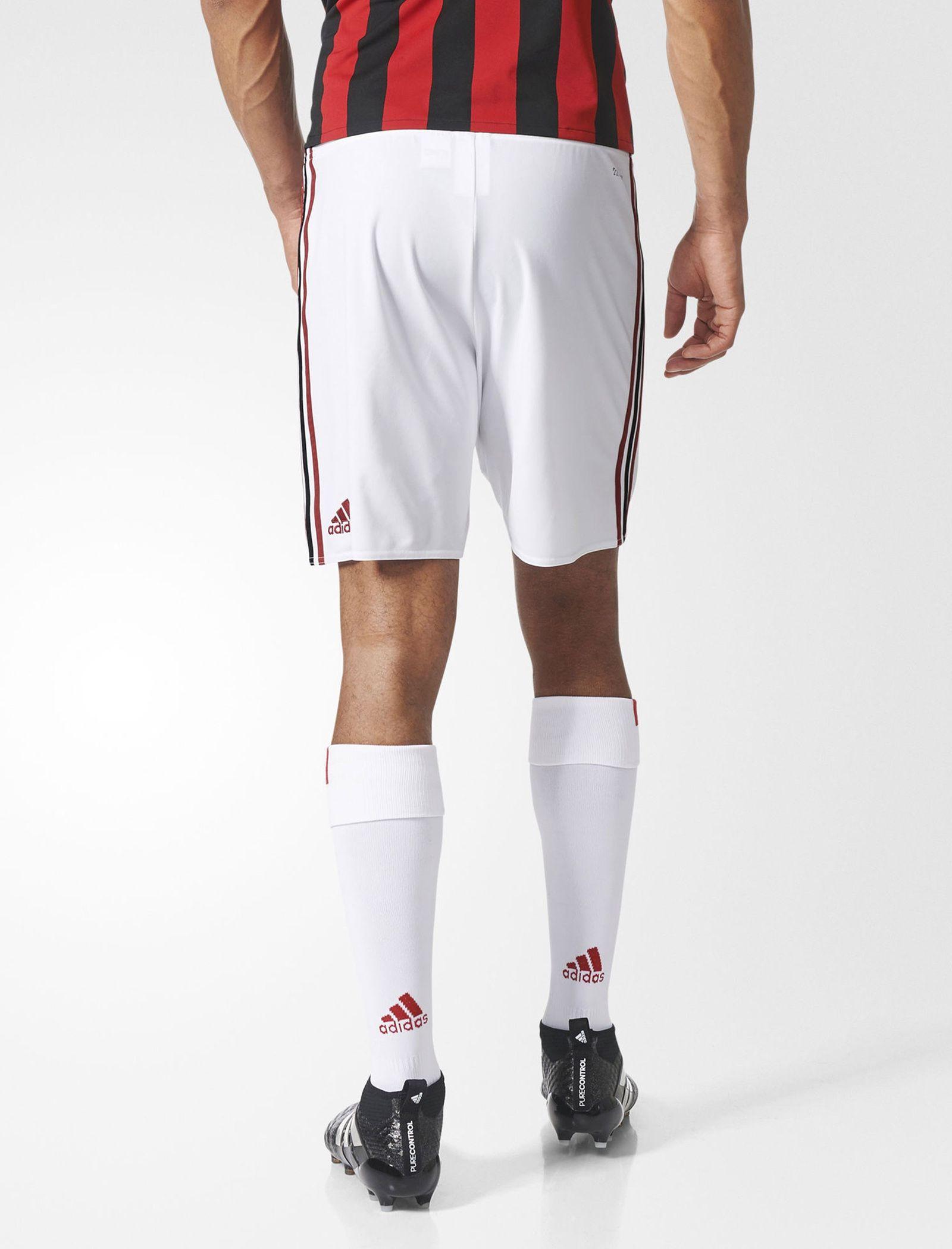 شلوارک فوتبال تیم  AC Milan Replica - آدیداس - سفيد   - 5