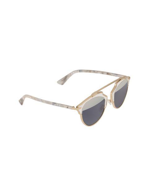 عینک آفتابی پنتوس زنانه - دیور - طلايي  - 2