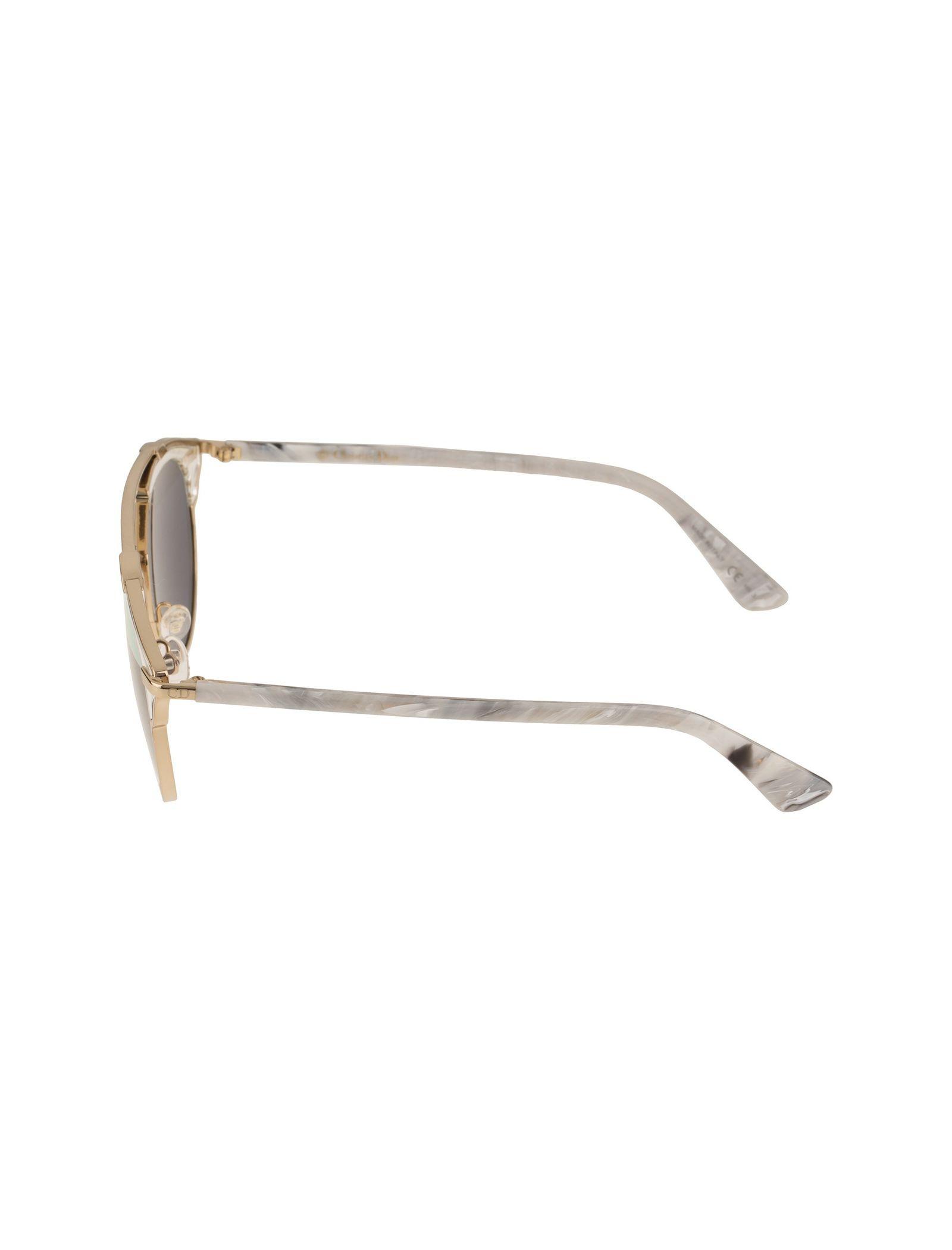 عینک آفتابی پنتوس زنانه - دیور - طلايي  - 4