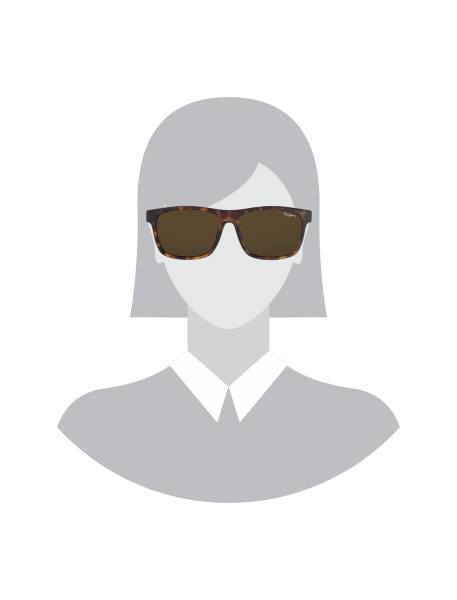عینک آفتابی ویفرر زنانه - قهوه اي - 5