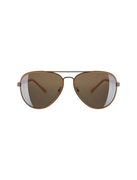 عینک آفتابی خلبانی زنانه - قهوه اي روشن - 1