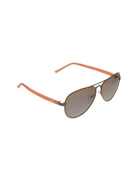 عینک آفتابی خلبانی زنانه - قهوه اي روشن - 2