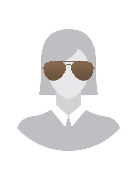 عینک آفتابی خلبانی زنانه - قهوه اي روشن - 5