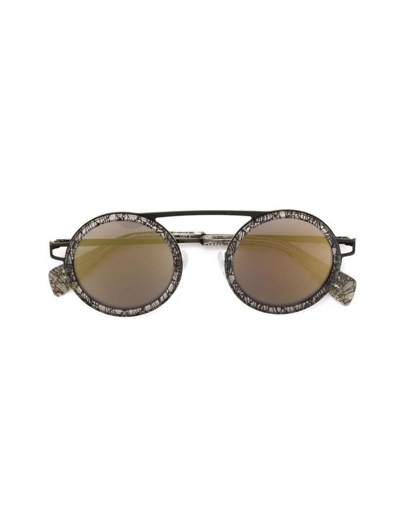 عینک آفتابی گرد زنانه - یوجی یاماموتو - مشکي  - 1