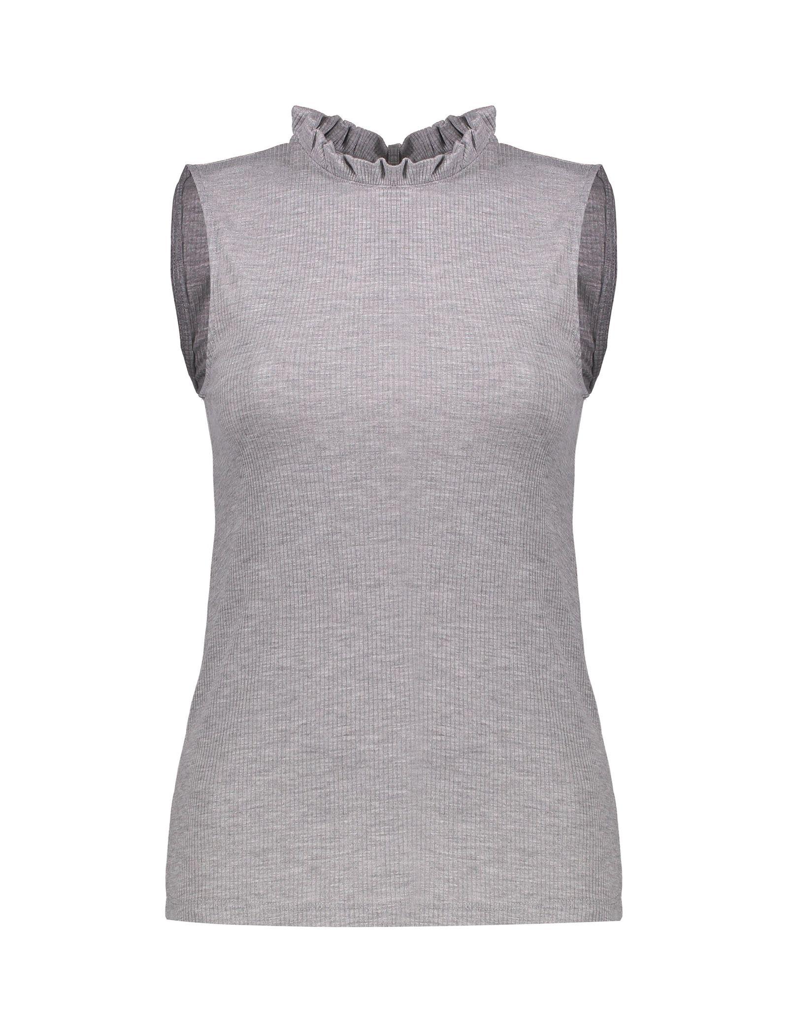 تی شرت آستین حلقه ای زنانه - پی سز - طوسي ملانژ - 1
