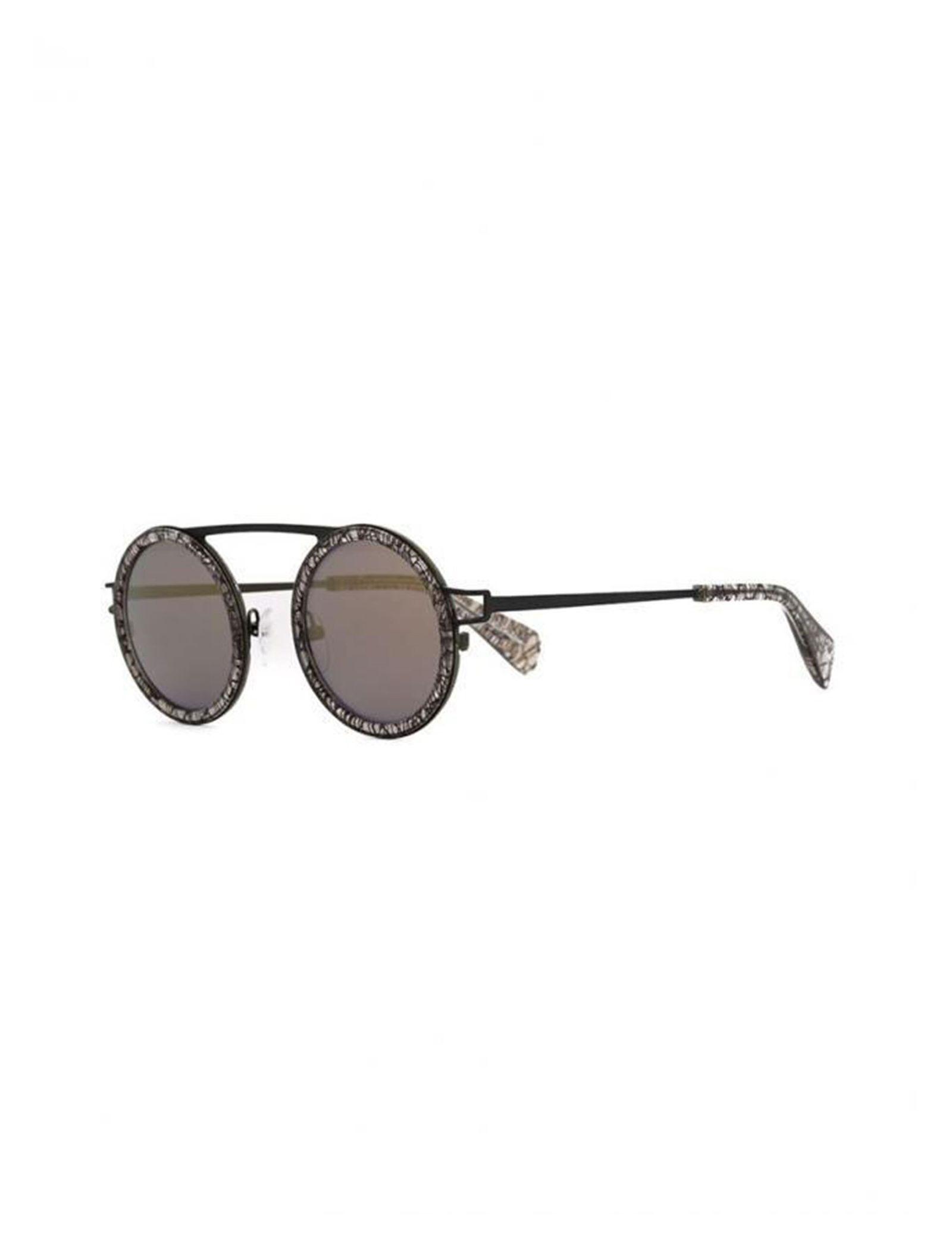 عینک آفتابی گرد زنانه - یوجی یاماموتو - مشکي  - 2