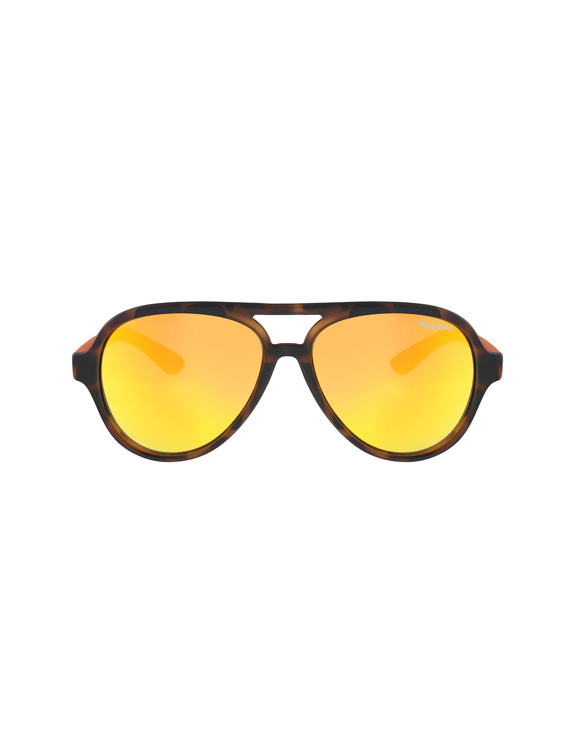 عینک آفتابی خلبانی بچگانه - پپه جینز - قهوه اي و نارنجي - 1