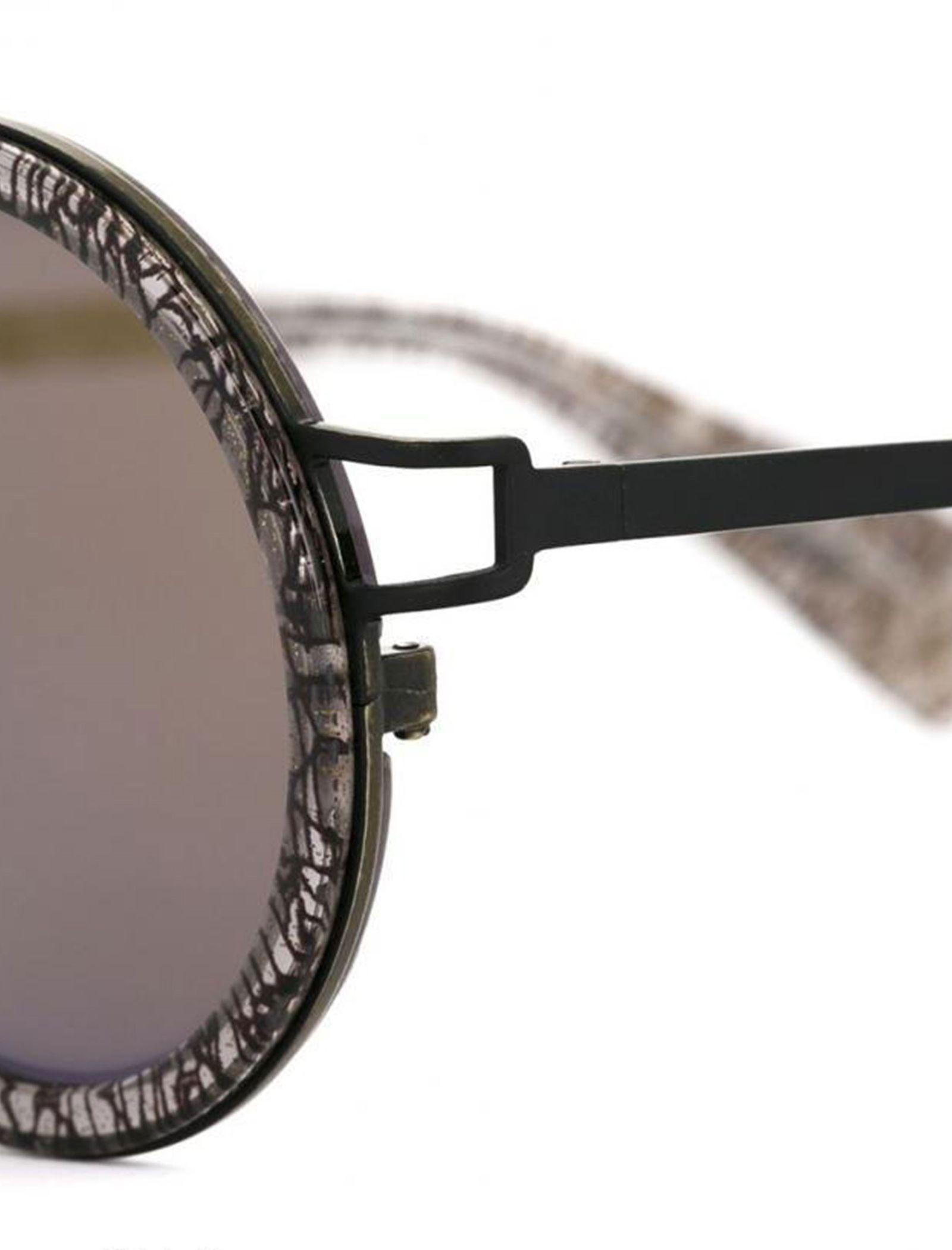 عینک آفتابی گرد زنانه - یوجی یاماموتو - مشکي  - 3