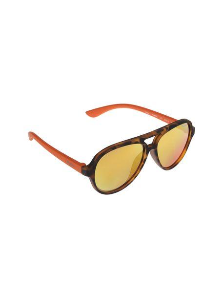 عینک آفتابی خلبانی بچگانه - قهوه اي و نارنجي - 2