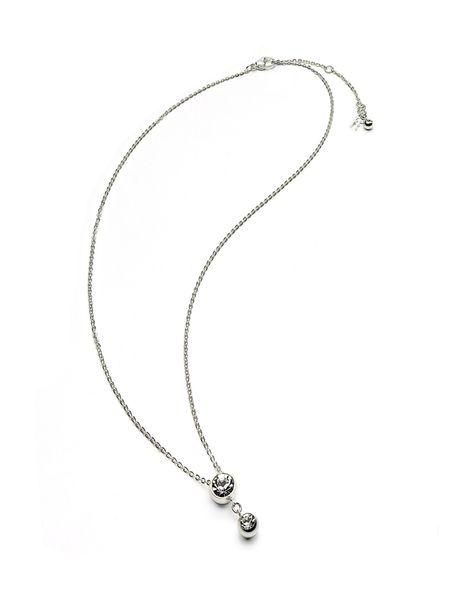 گردنبند آویز زنانه - نقره اي - 1