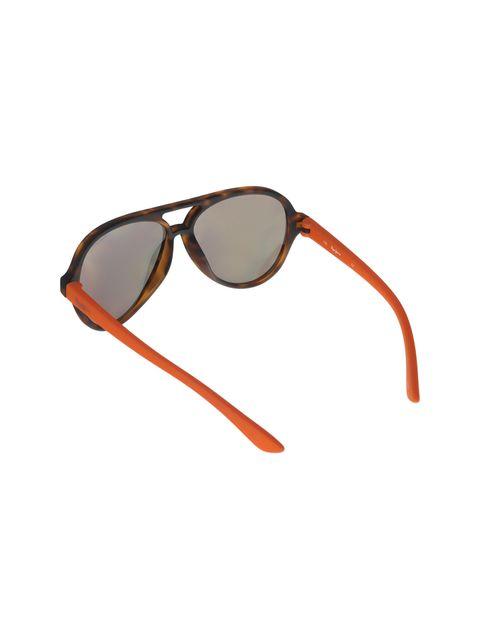 عینک آفتابی خلبانی بچگانه - قهوه اي و نارنجي - 4