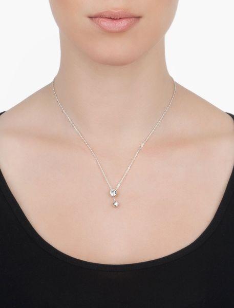 گردنبند آویز زنانه - نقره اي - 2