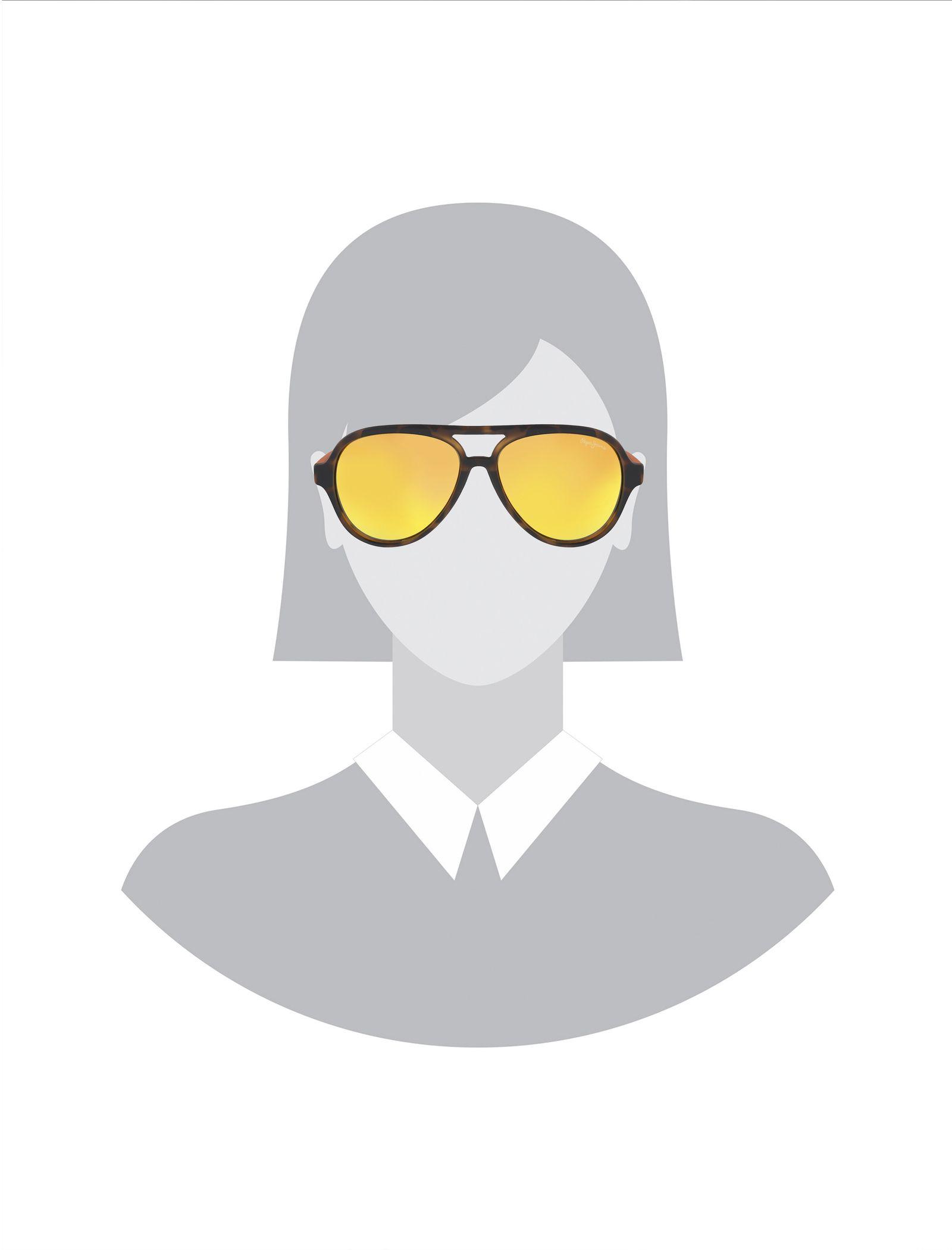 عینک آفتابی خلبانی بچگانه - پپه جینز - قهوه اي و نارنجي - 5