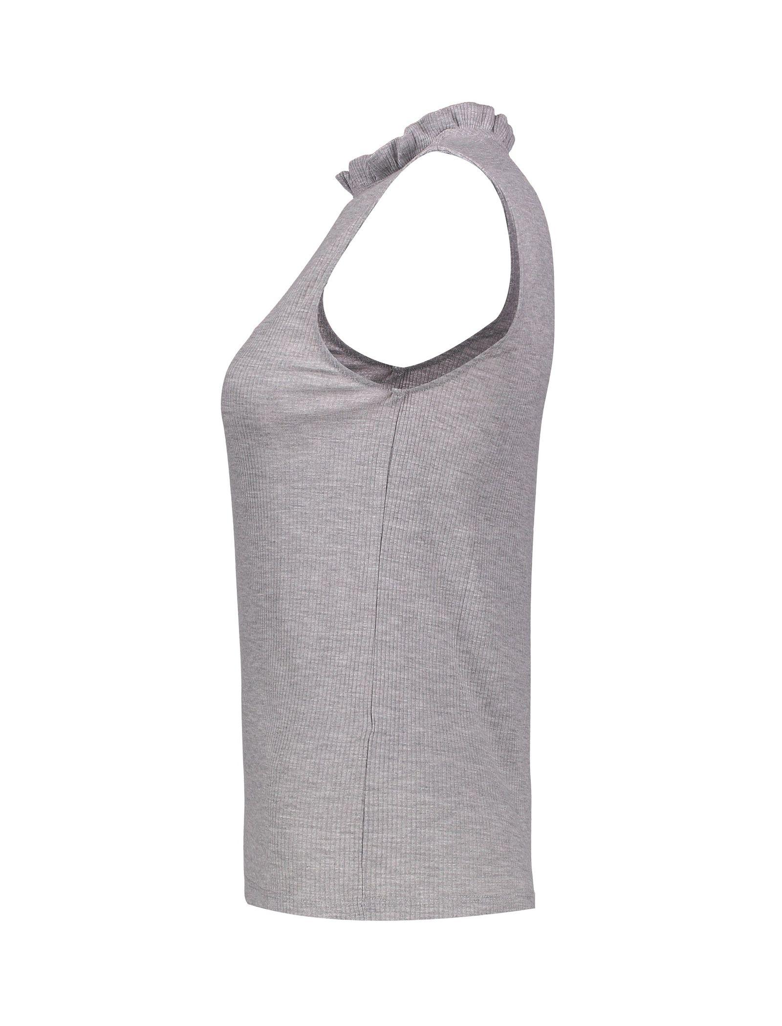 تی شرت آستین حلقه ای زنانه - پی سز - طوسي ملانژ - 3