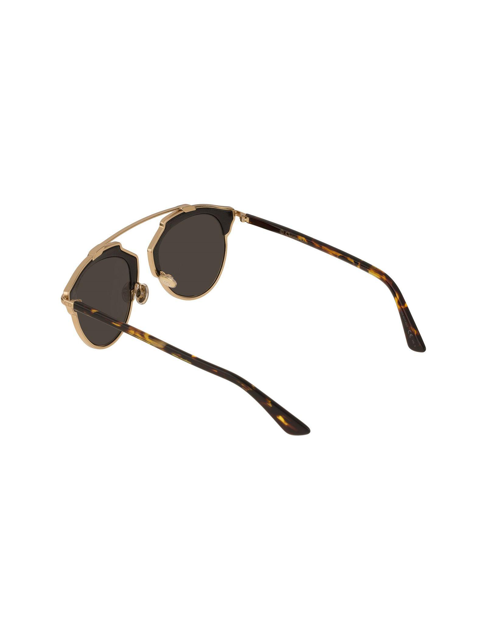 عینک آفتابی پنتوس زنانه - دیور - مشکي و طلايي - 4