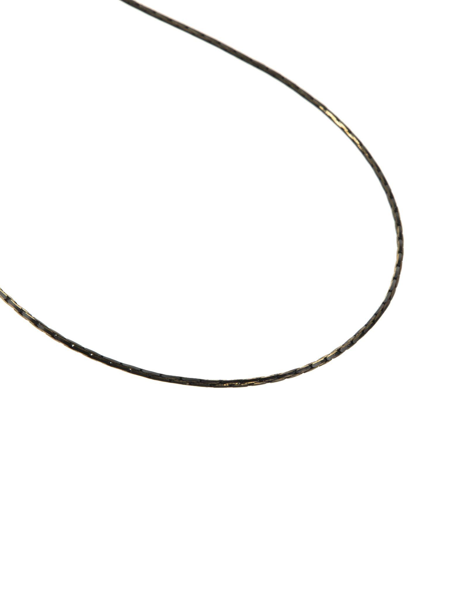 گردنبند آویز زنانه - پونت روما تک سایز - طوسي طلايي - 6