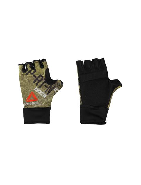 دستکش ورزشی بزرگسال - ریباک - مشکي و زيتوني - 1