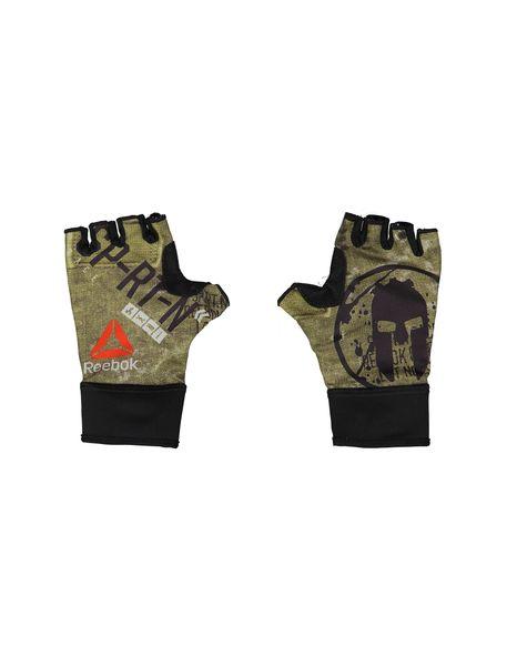 دستکش ورزشی بزرگسال - مشکي و زيتوني - 2