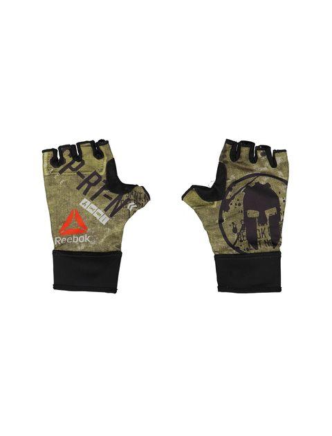 دستکش ورزشی بزرگسال - ریباک - مشکي و زيتوني - 2