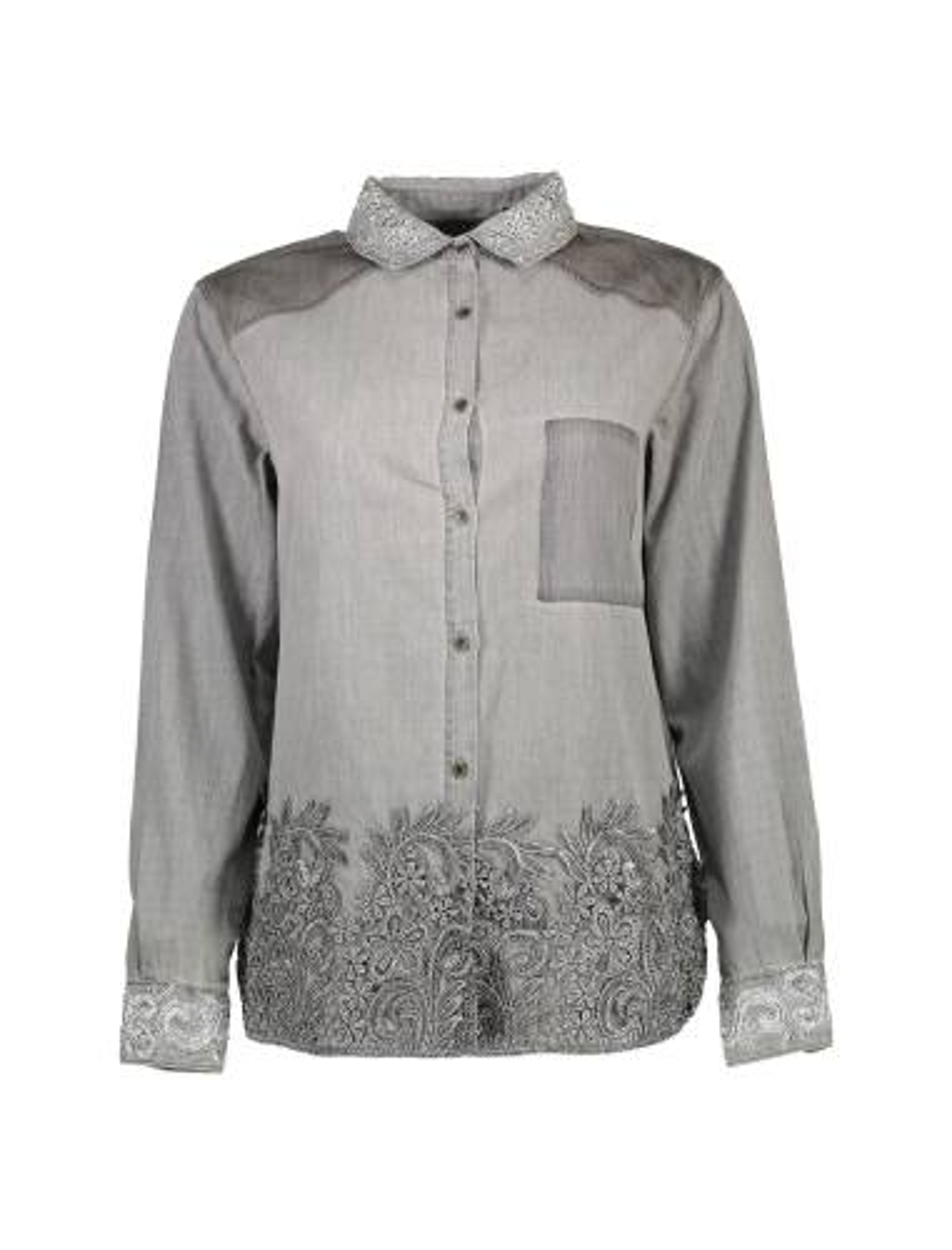 شومیز نخی آستین بلند زنانه Exotic Silver Shirt
