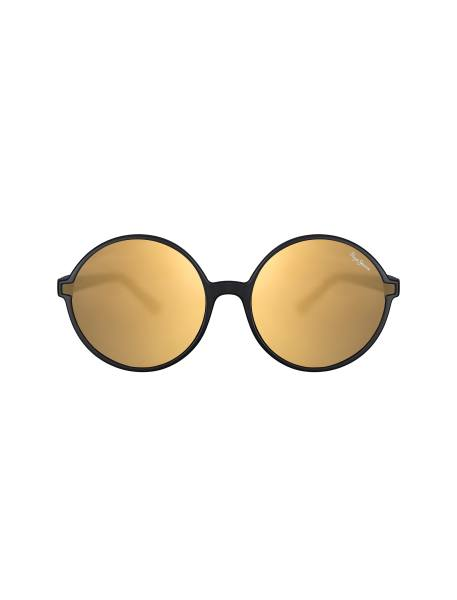 عینک آفتابی گرد زنانه - زغالي - 1