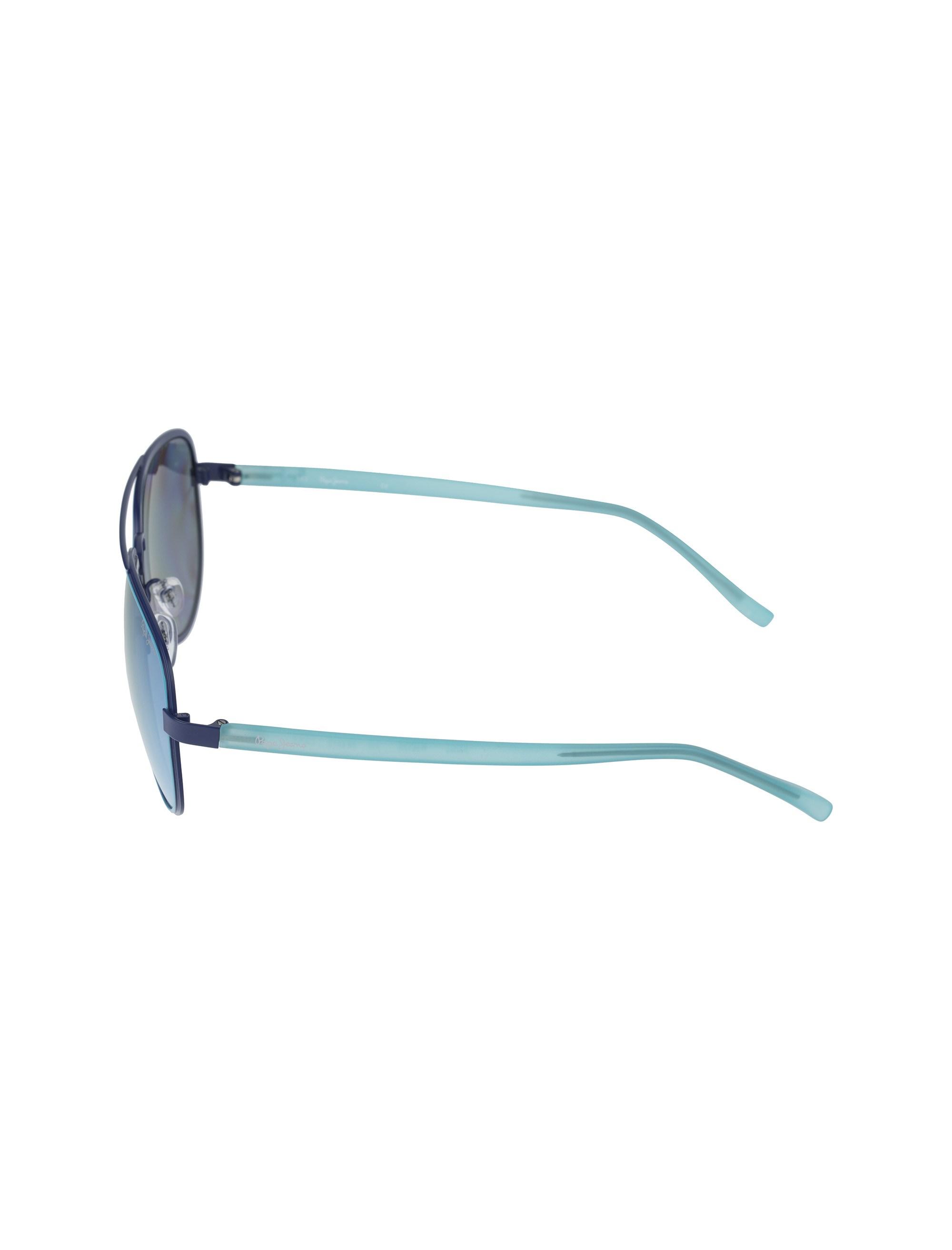 عینک آفتابی خلبانی زنانه - آبي روشن - 3