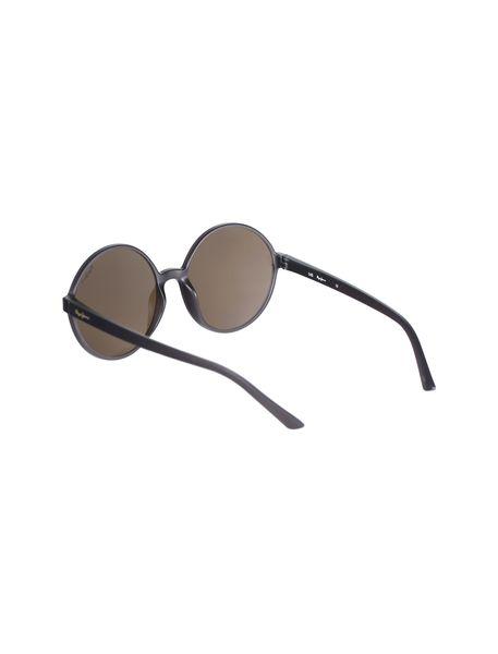 عینک آفتابی گرد زنانه - زغالي - 4