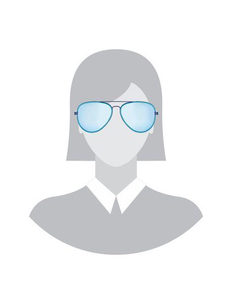 عینک آفتابی خلبانی زنانه - آبي روشن - 5
