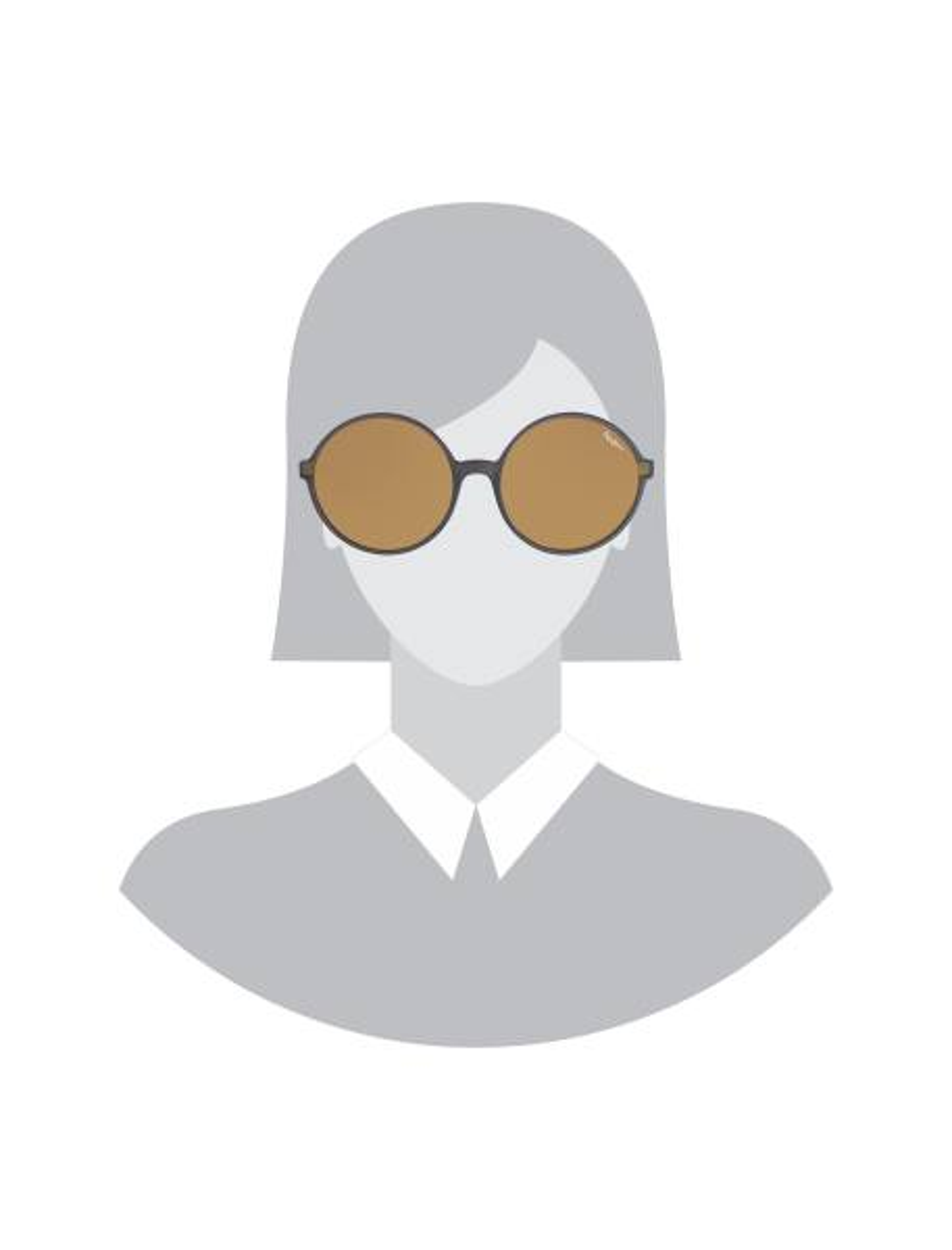 عینک آفتابی گرد زنانه - زغالي - 5