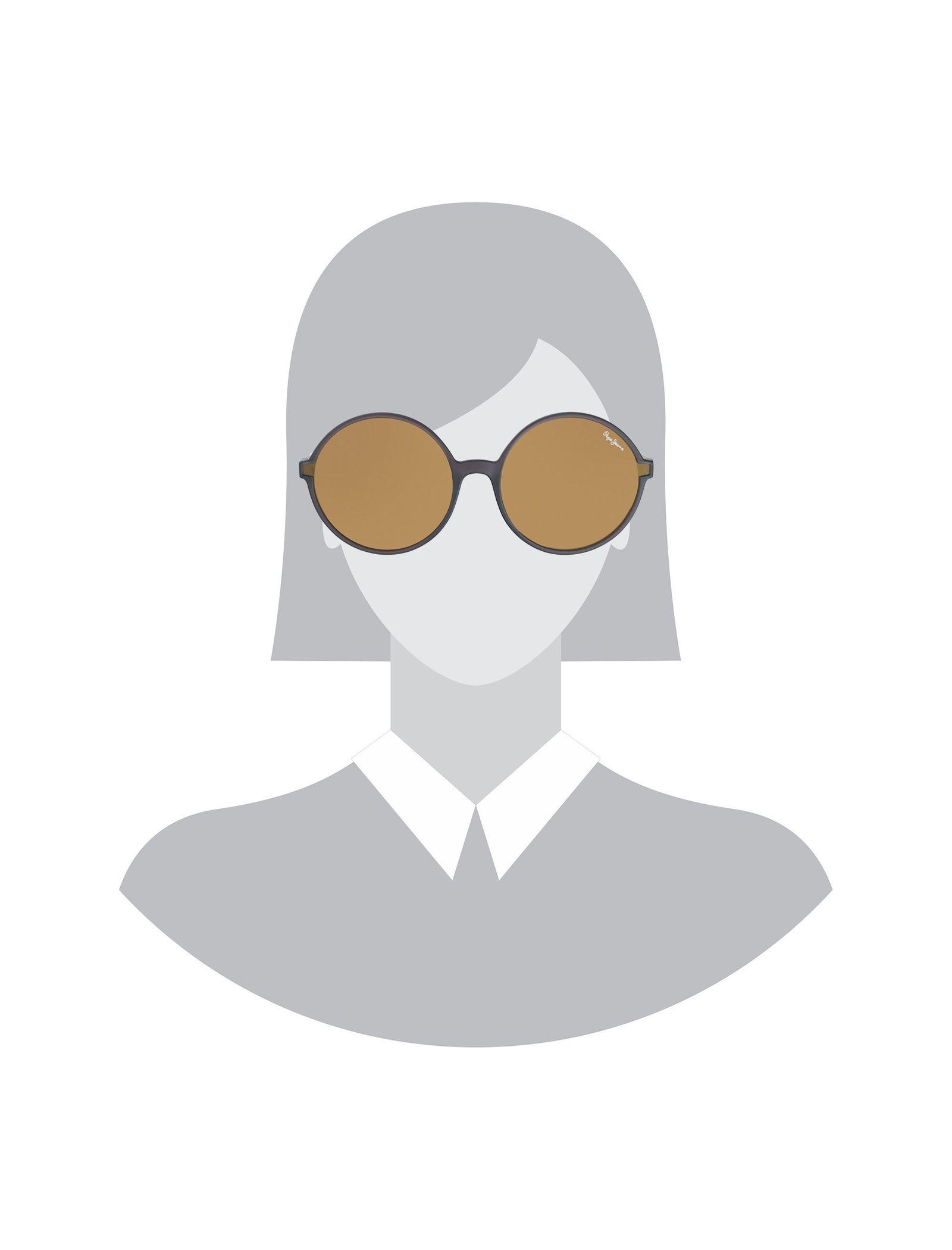 عینک آفتابی گرد زنانه - پپه جینز - زغالي - 5