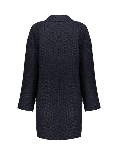 کت بلند زنانه - سرمه اي تيره - 2