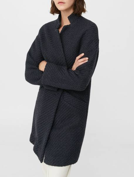 کت بلند زنانه - سرمه اي تيره - 4
