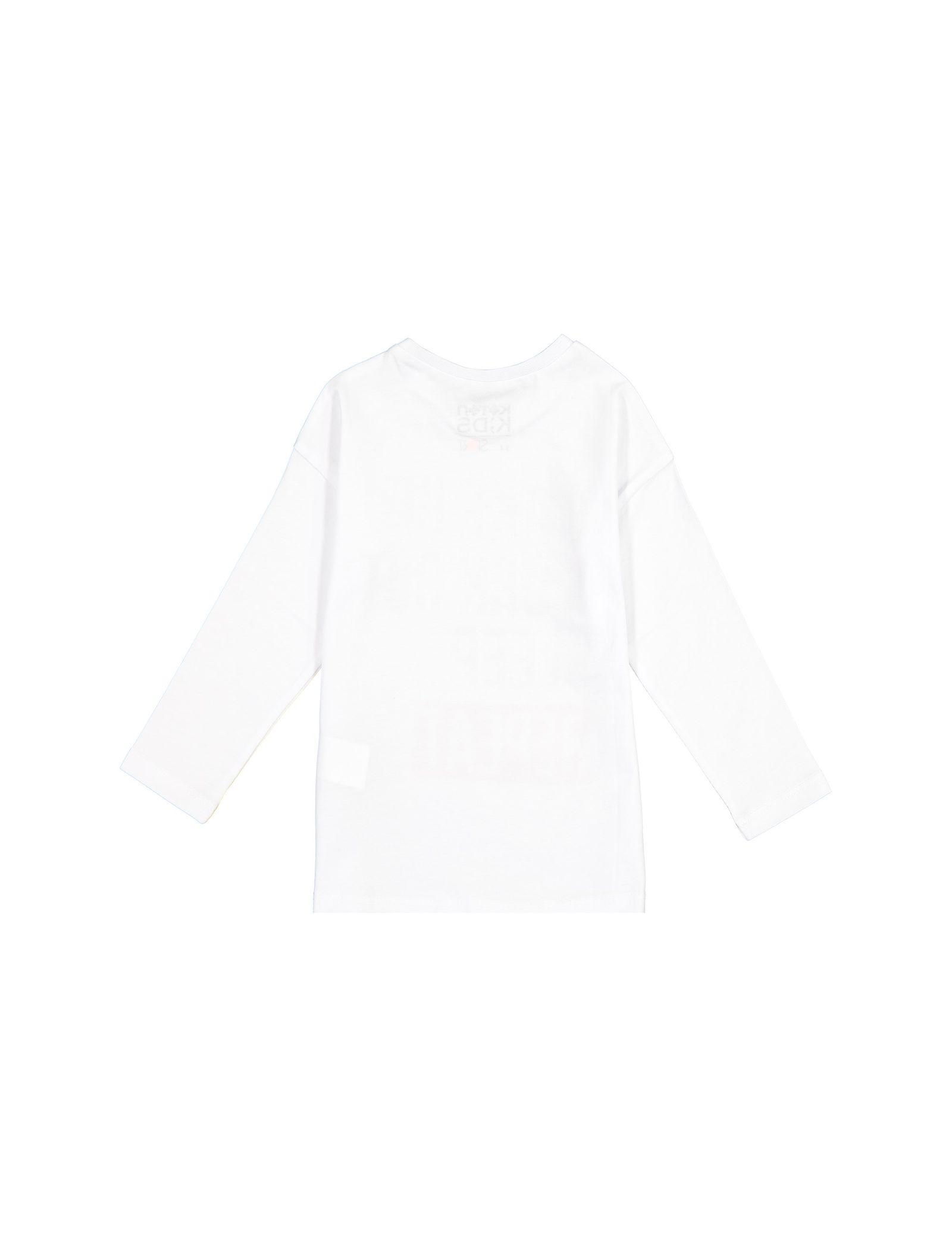 تی شرت نخی آستین بلند دخترانه - کوتون - سفيد - 2