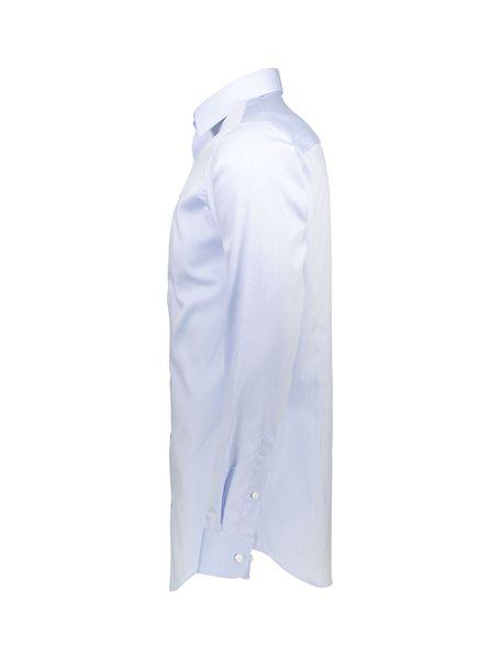 پیراهن نخی یقه برگردان مردانه - آبي روشن - 3