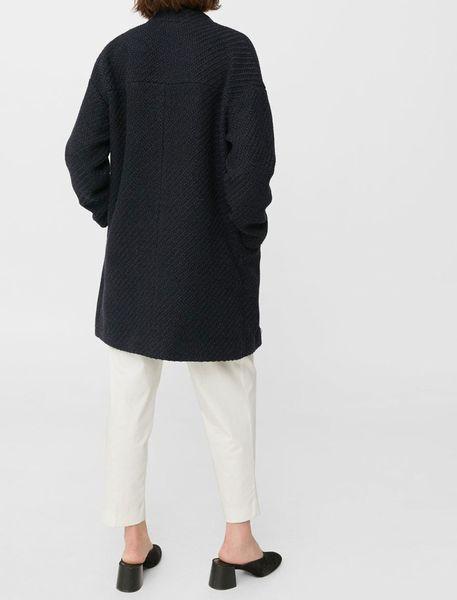 کت بلند زنانه - سرمه اي تيره - 8