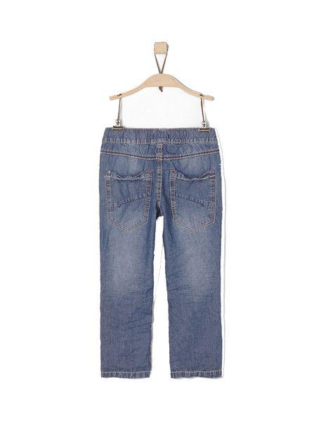 شلوار جین راسته پسرانه - آبي  - 2