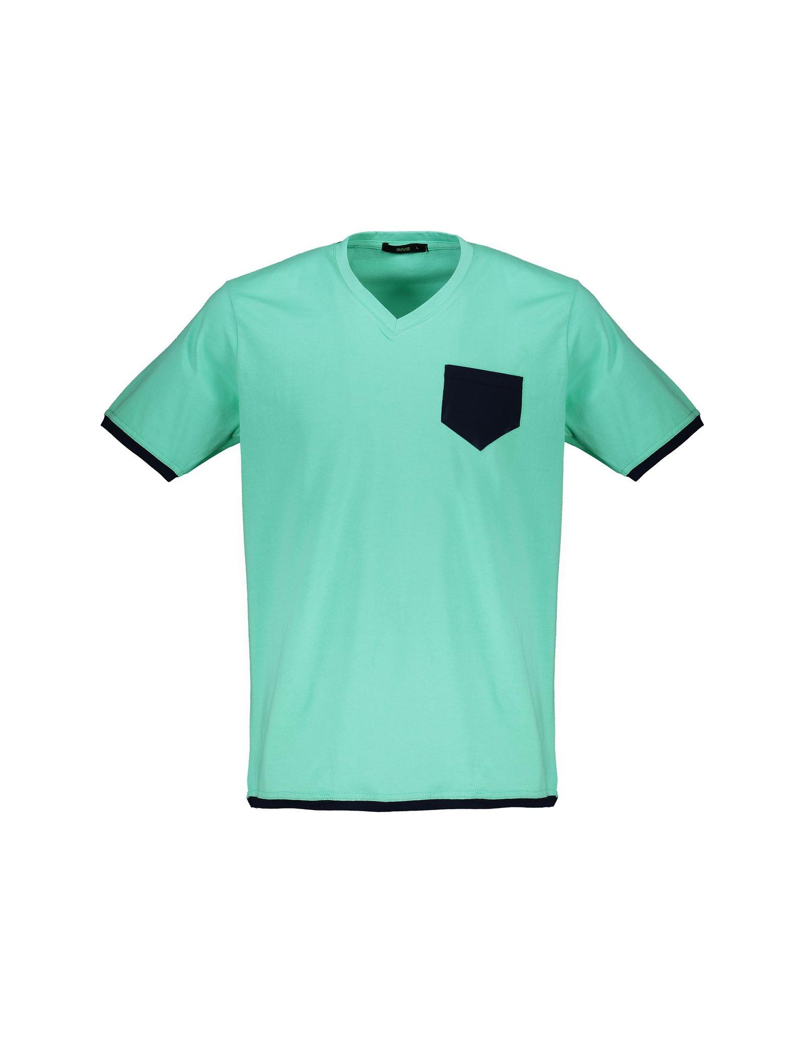 تی شرت و شلوار نخی راحتی مردانه - آر اِن اِس - سبز آبي - 2